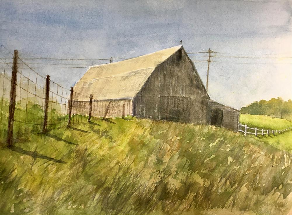 """empty barn"" original fine art by Betty Argiros"