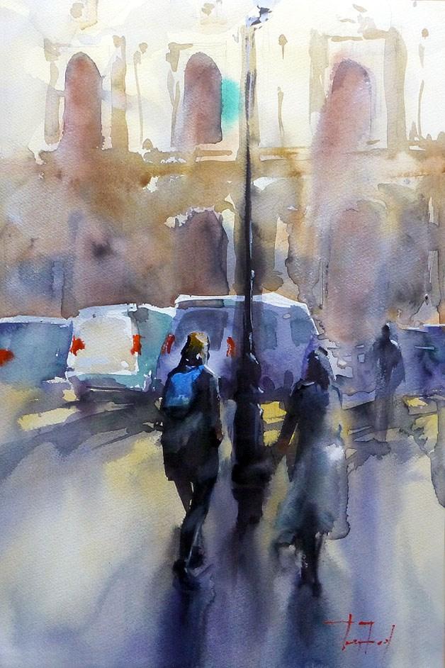 """""""on road"""" original fine art by Jurij Frey"""
