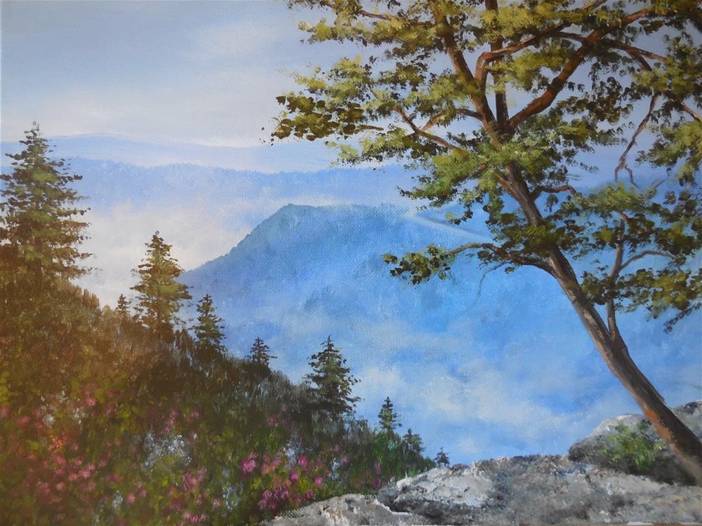 """Spring in the Blue Ridge"" original fine art by Terri Nicholson"