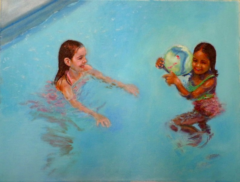 """Friendship"" original fine art by Maria Z."