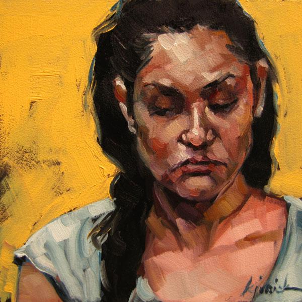 """100 Faces, No. 18"" original fine art by Karin Jurick"