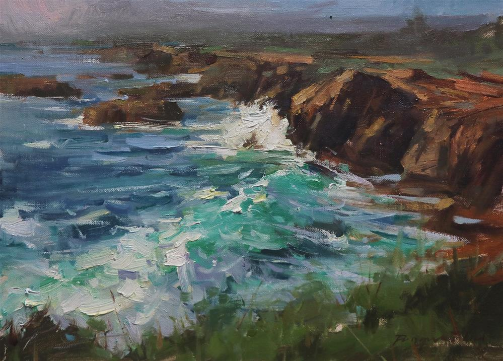 """Point Lobos"" original fine art by Fongwei Liu"