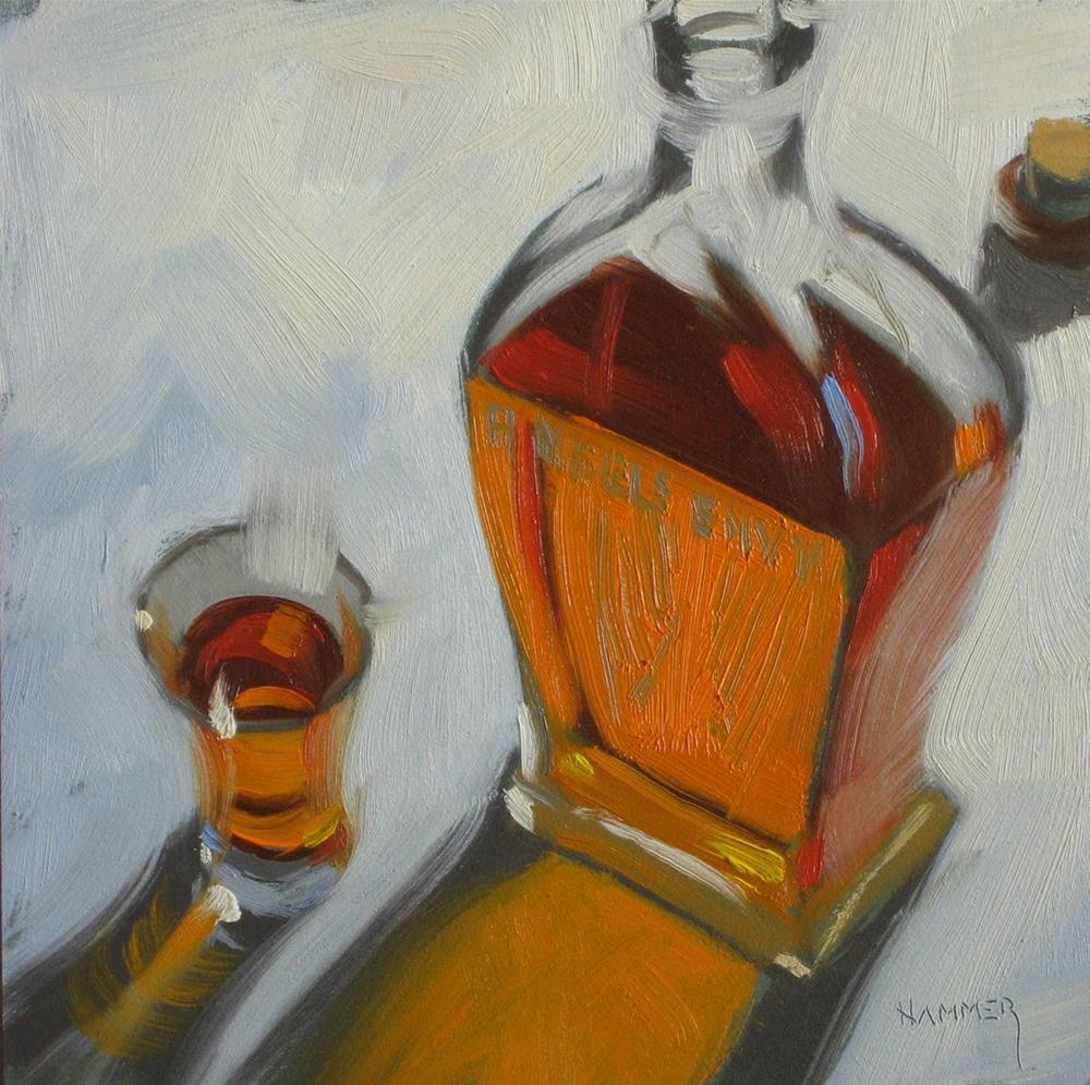"""Angels Envy 6x6 oil"" original fine art by Claudia Hammer"