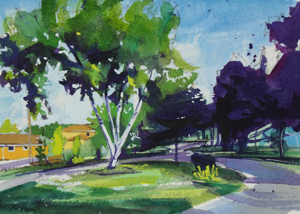 """Williamsville Path"" original fine art by Chris Breier"