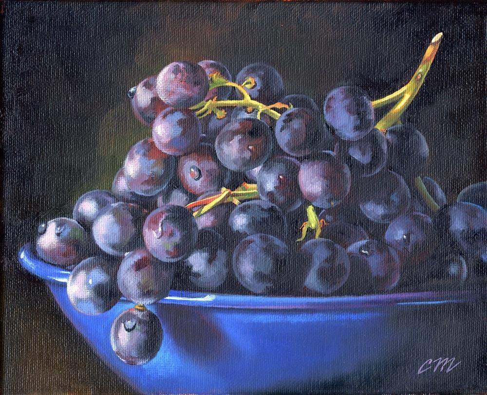 """Black & Blue"" original fine art by Connie McLennan"