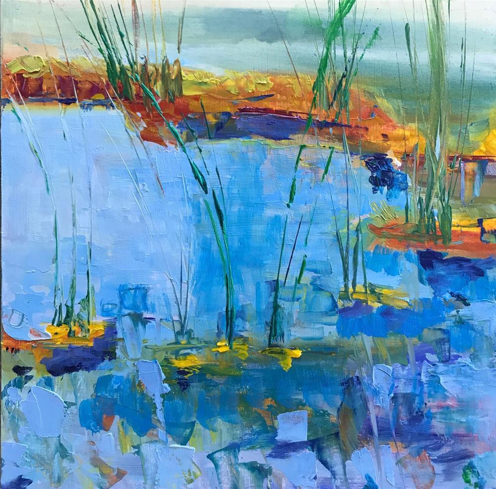 """""""McKay Gardens by the lake"""" original fine art by Angela Hansen"""