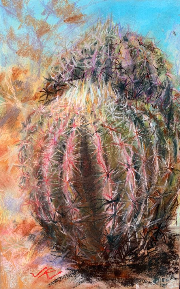 """Arizona Barrel Cactus"" original fine art by Jean Krueger"