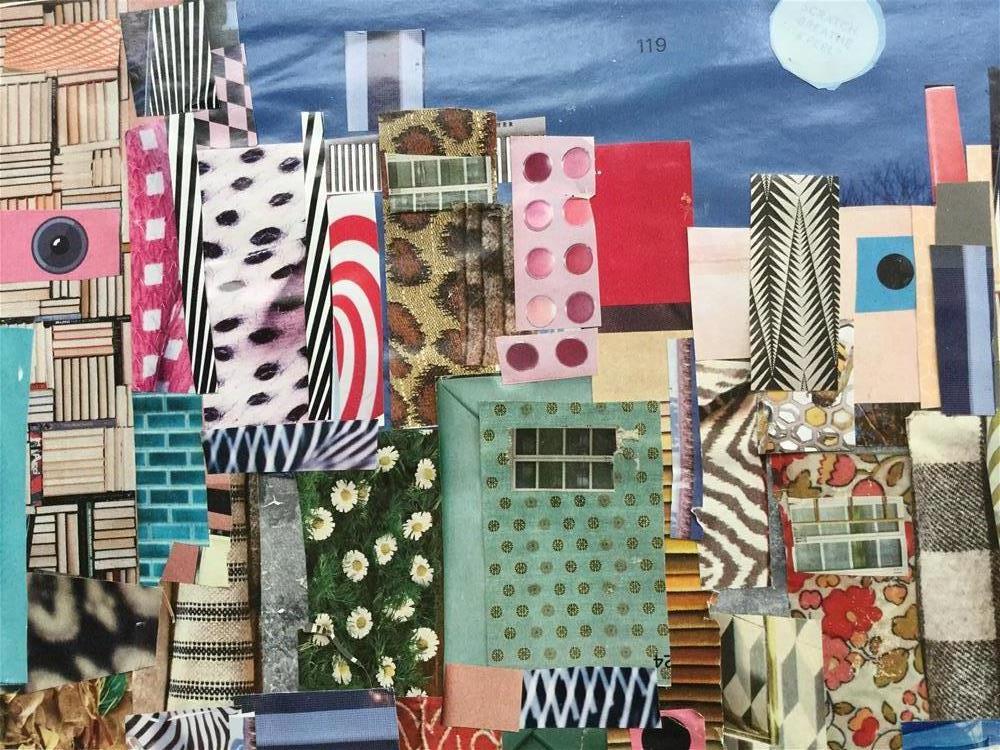 """City life"" original fine art by pamela kish"