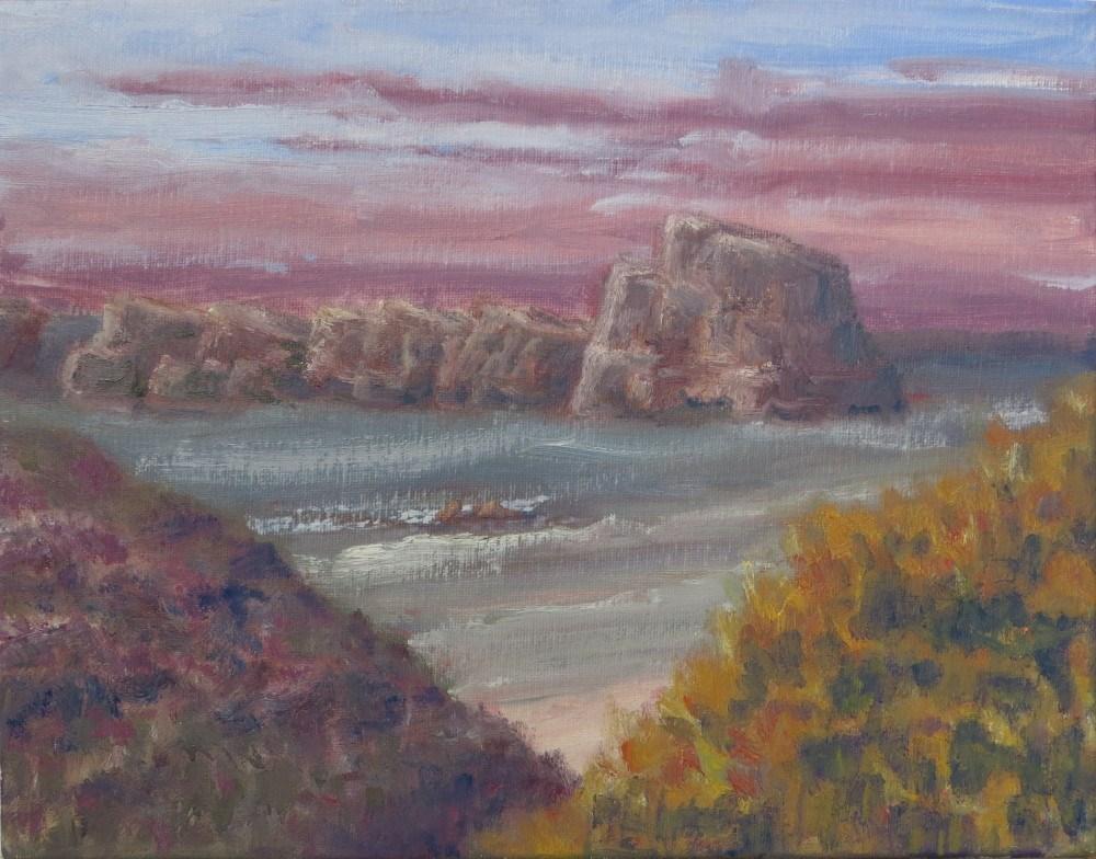"""Violet Clouds"" original fine art by Richard Kiehn"