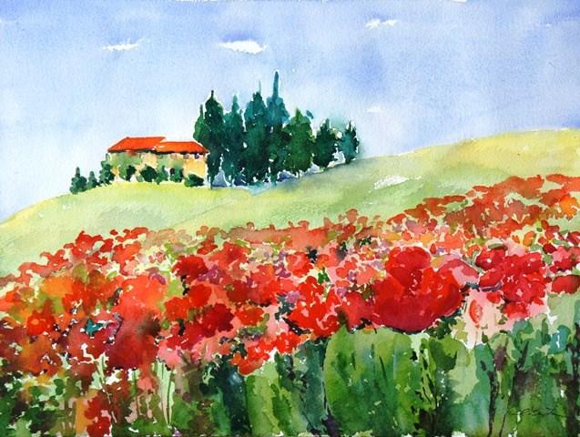"""Under the Tuscan Sun"" original fine art by Lisa Fu"