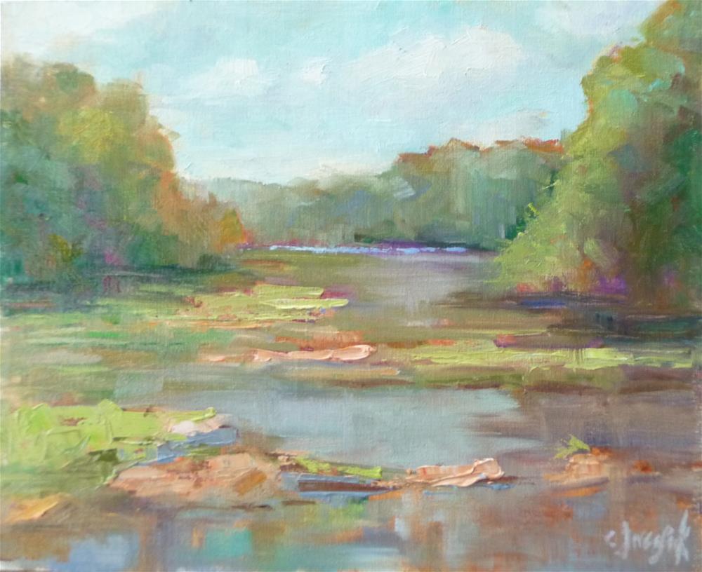 """River Reflections"" original fine art by Carol Josefiak"