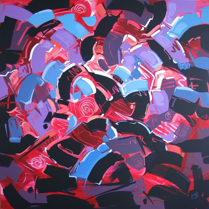 """""""Shapes & Movement 45"""" original fine art by Roger Akesson"""