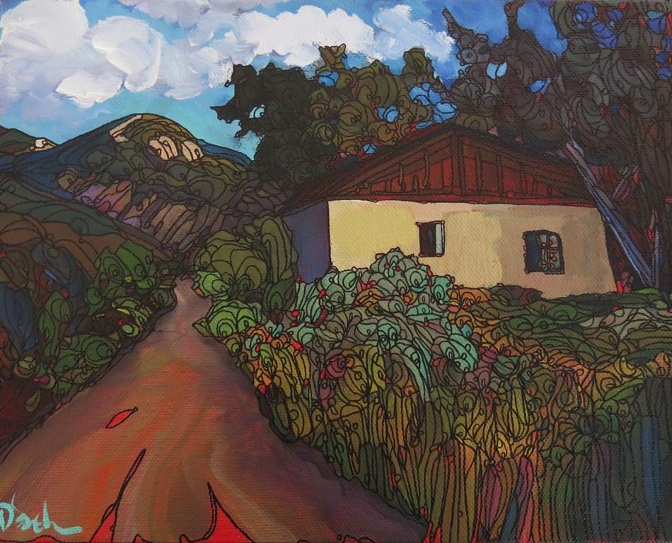 """""""67 RIM ROAD VIEW"""" original fine art by Dee Sanchez"""