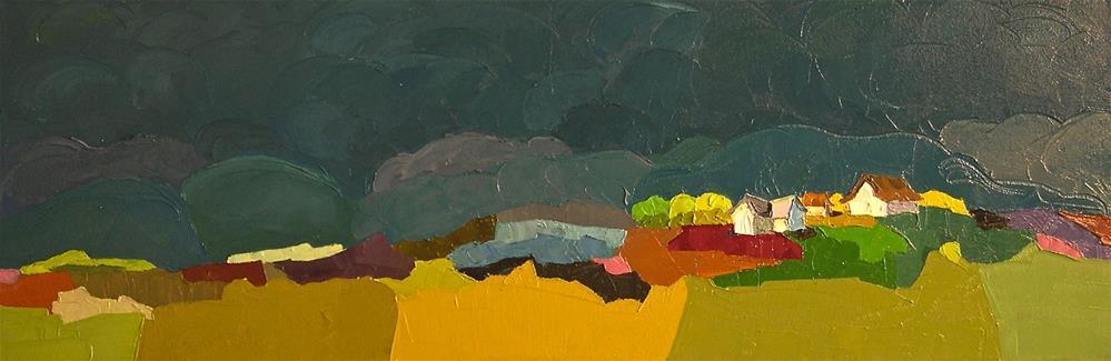 """Night Clouds"" original fine art by Donna Walker"