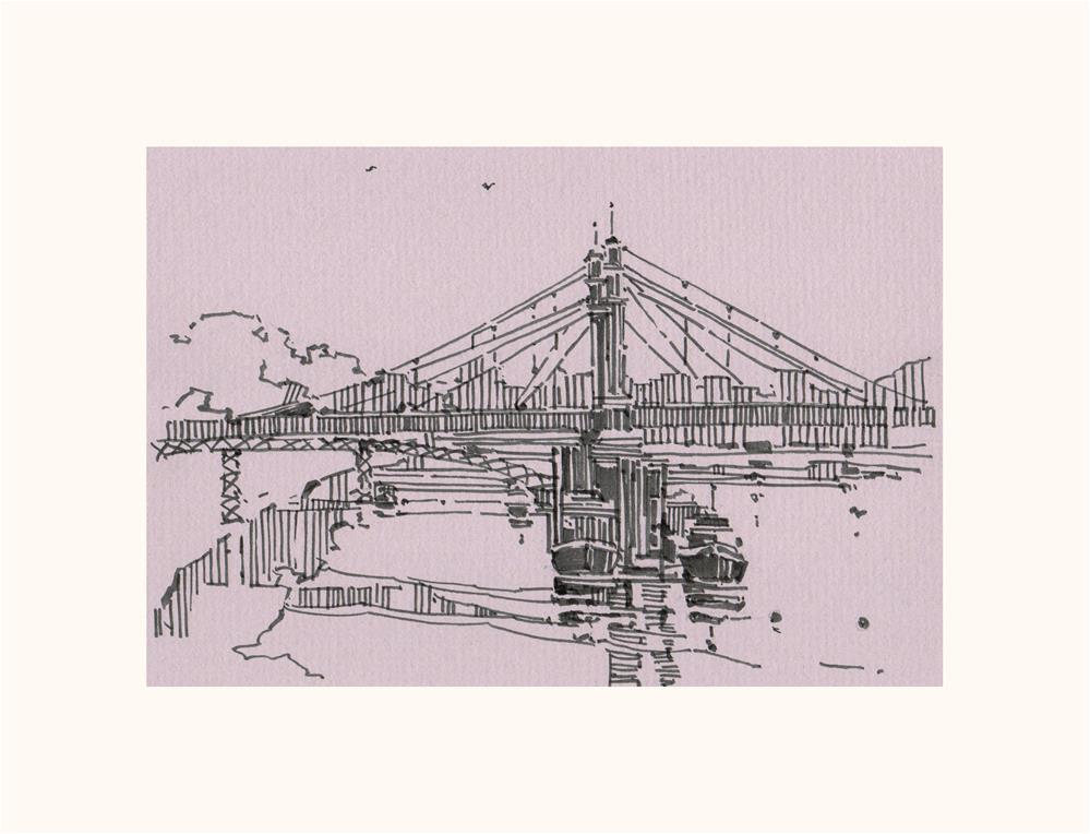 """Tall Piers 1"" original fine art by Natalia Avdeeva"