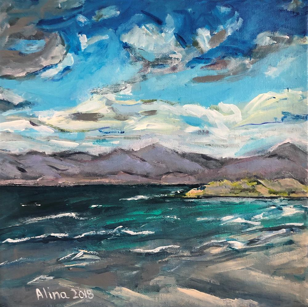 """Isle of Harris Beach"" original fine art by Alina Vidulescu"