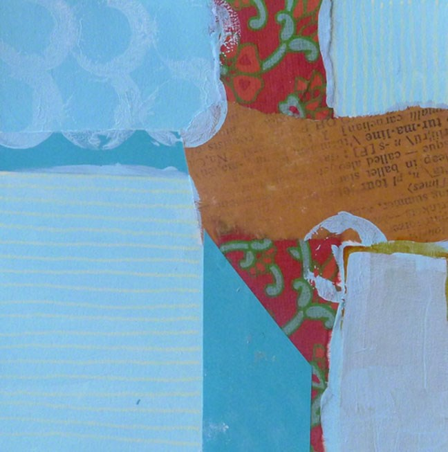 """COLLAGE No. 16"" original fine art by Linda Popple"