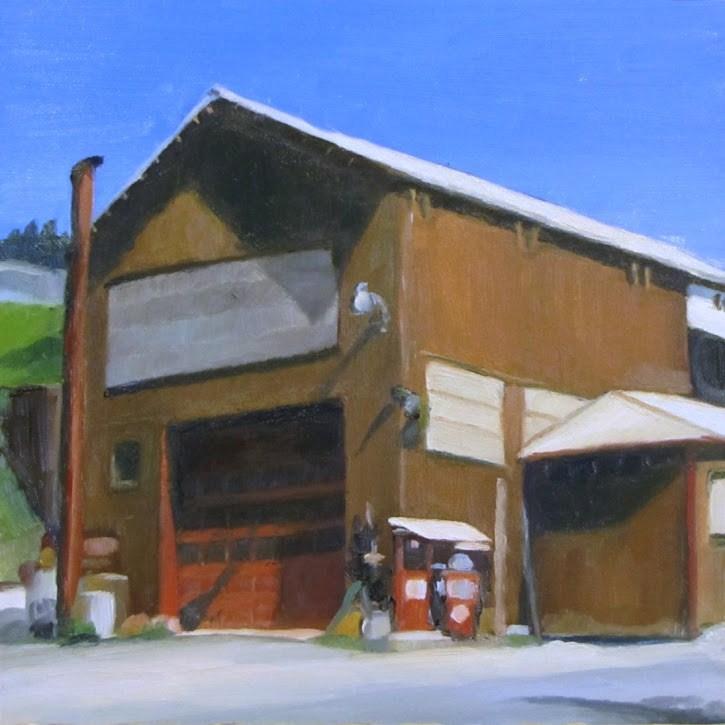 """Truck shop"" original fine art by Nora Bergman"