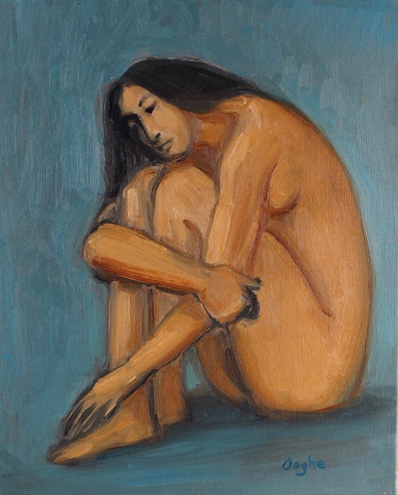 """""""Seated Woman"""" original fine art by Angela Ooghe"""