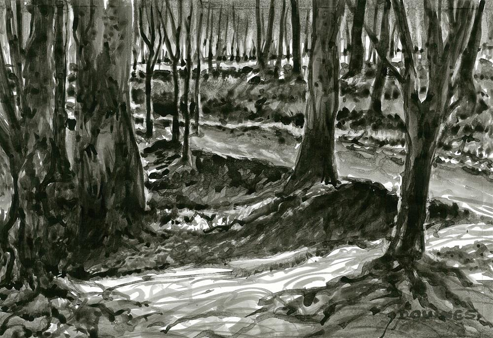 """254 EN PLEIN AIR SKETCH 13"" original fine art by Trevor Downes"