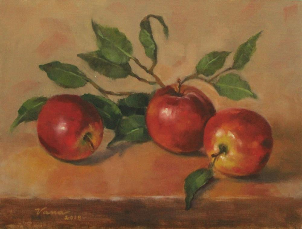 """Apple Trio"" original fine art by Vana Meyers"
