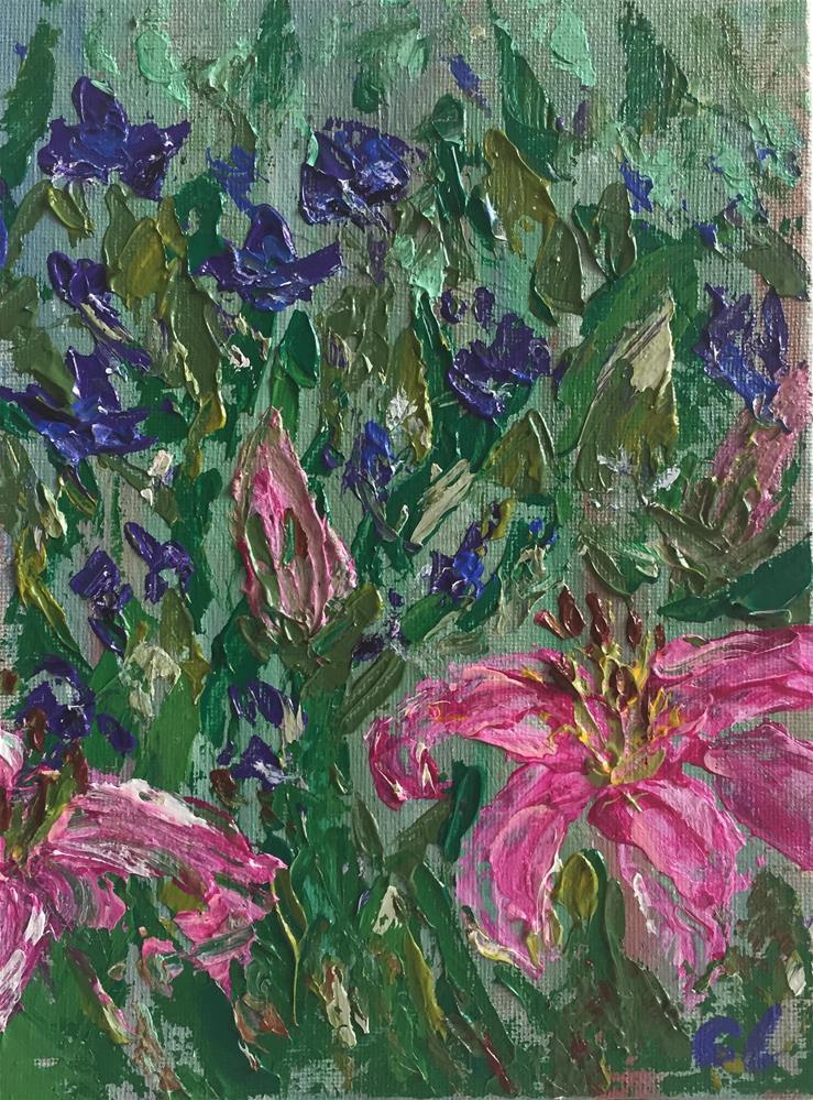 """Art Garden"" original fine art by Cheree Apalona Lueck"