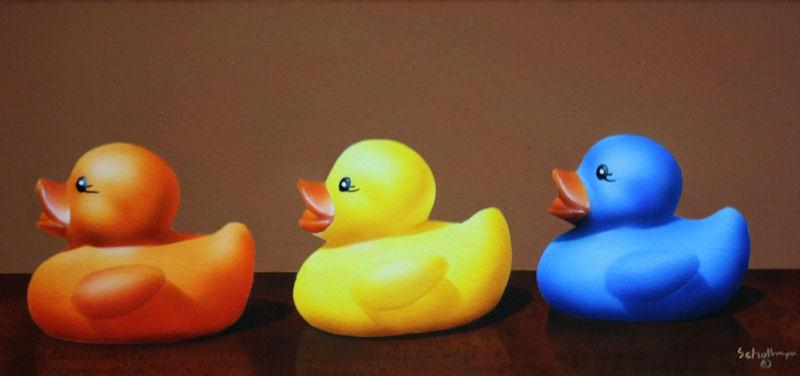 """Get Your Ducks in a Row"" original fine art by Fred Schollmeyer"