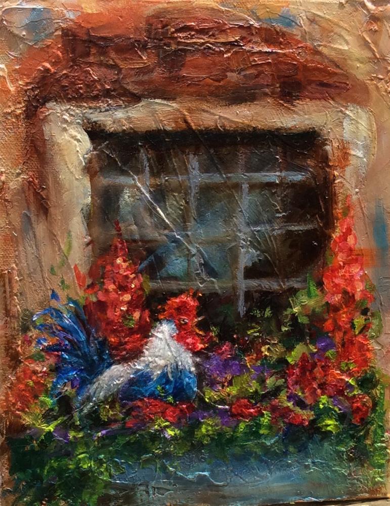 """Morning Glory"" original fine art by Susie Monzingo"
