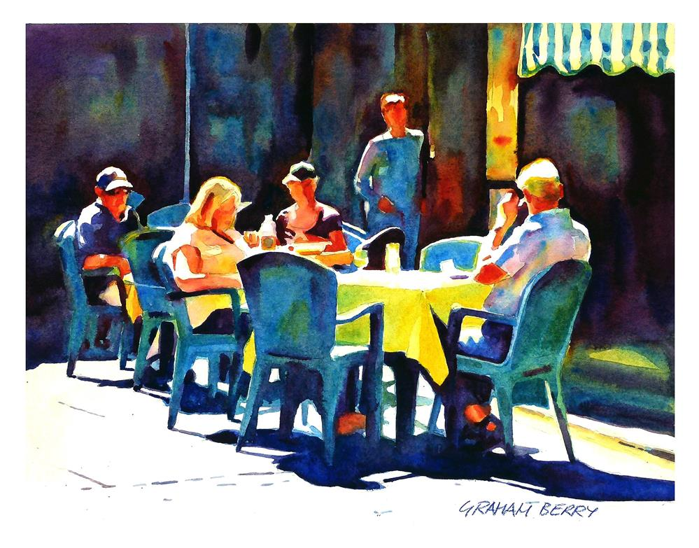 """""""Lunch in the sun."""" original fine art by Graham Berry"""