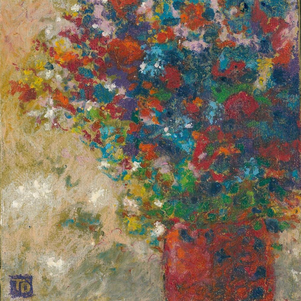 """344 FLOWERS STYLISED 11"" original fine art by Trevor Downes"