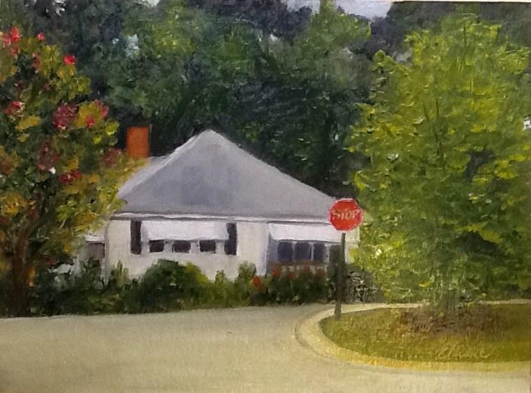 """Hood Street House"" original fine art by Elaine Ford"