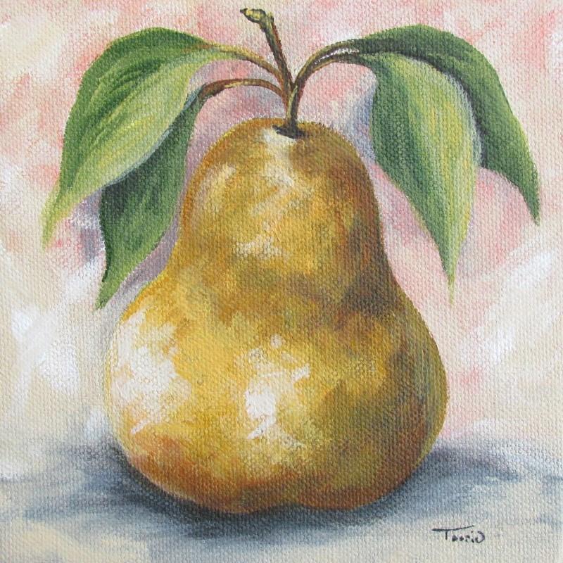 """""""September Pear I"""" original fine art by Torrie Smiley"""