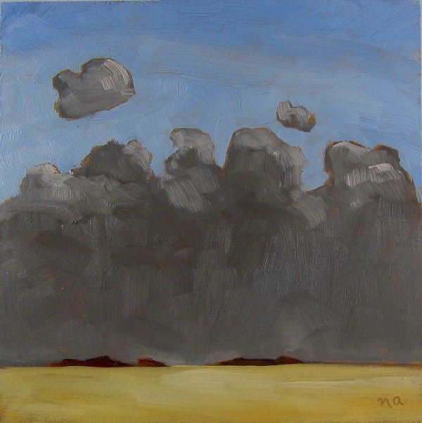 """Thunderheads Rising"" original fine art by Nicki Ault"