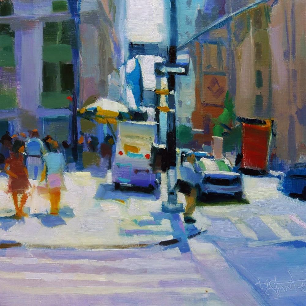 """NYC Corner"" original fine art by Víctor Tristante"