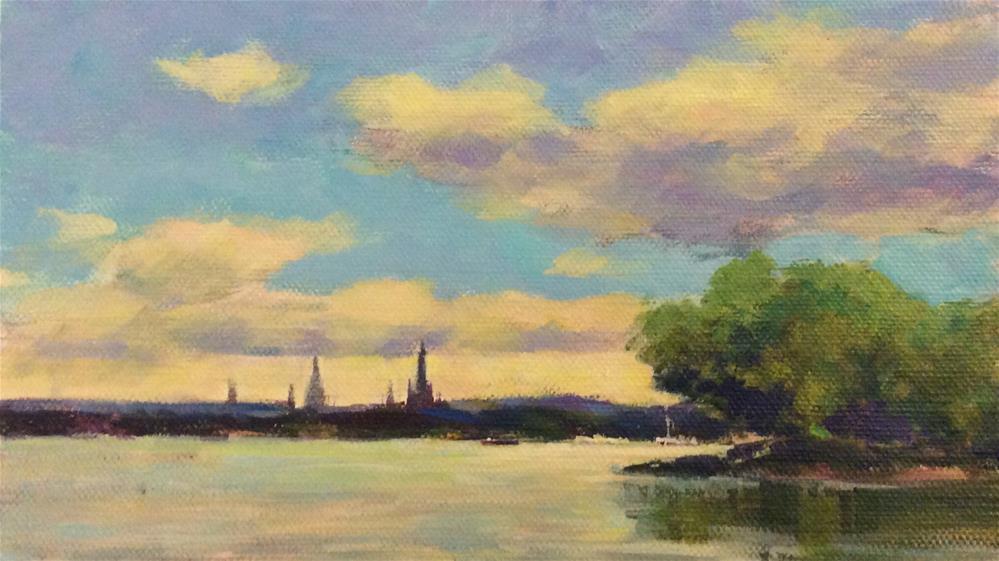 """Along the river"" original fine art by John Shave"