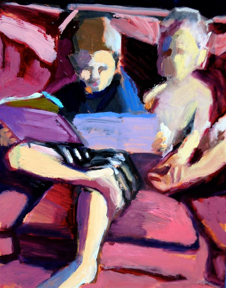 """Reading To Little Brother"" original fine art by Pamela Hoffmeister"