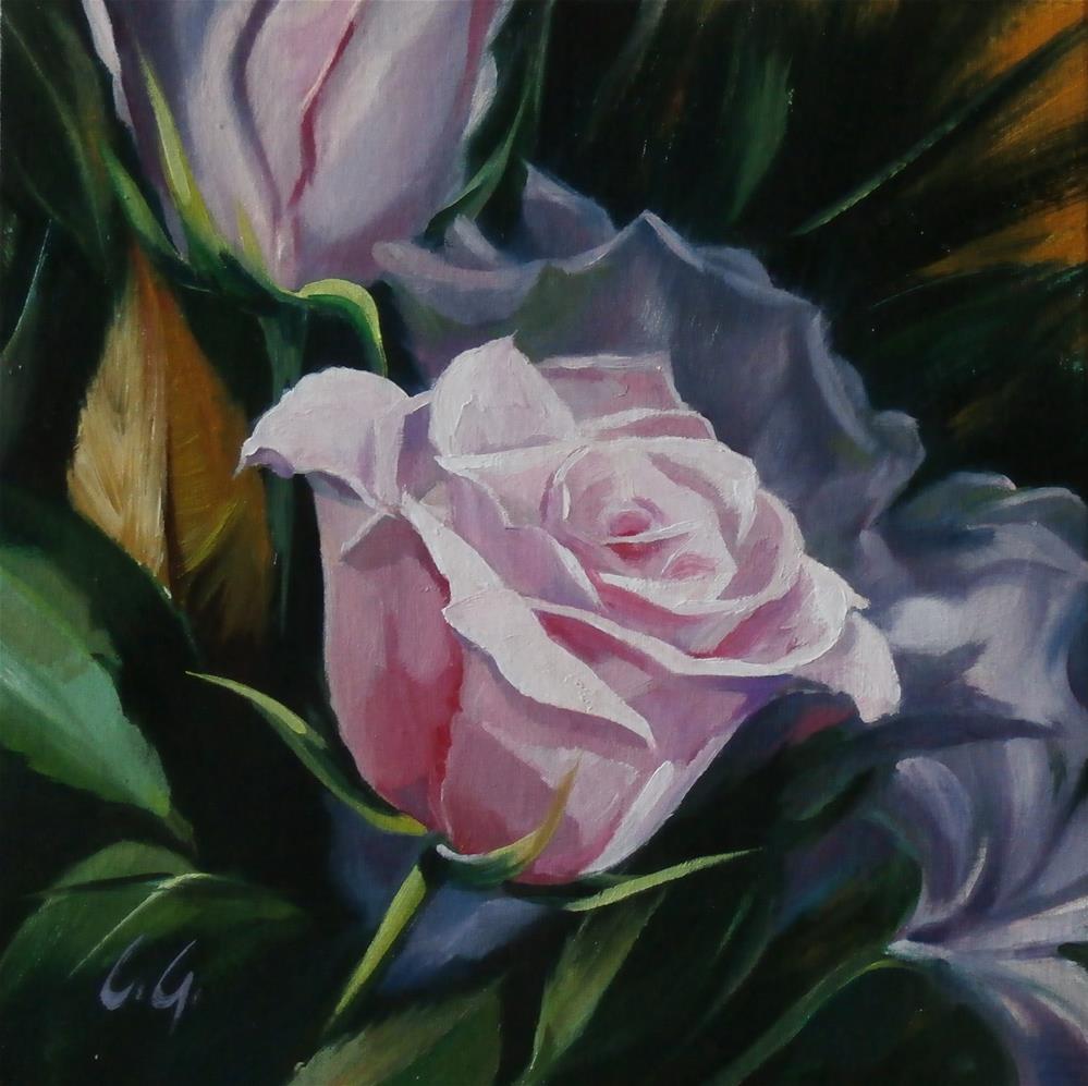 """Pink Roses"" original fine art by Carla Gauthier"