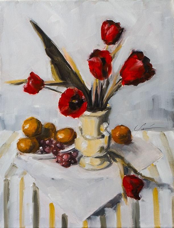 """Tulips in Zorn"" original fine art by Clair Hartmann"