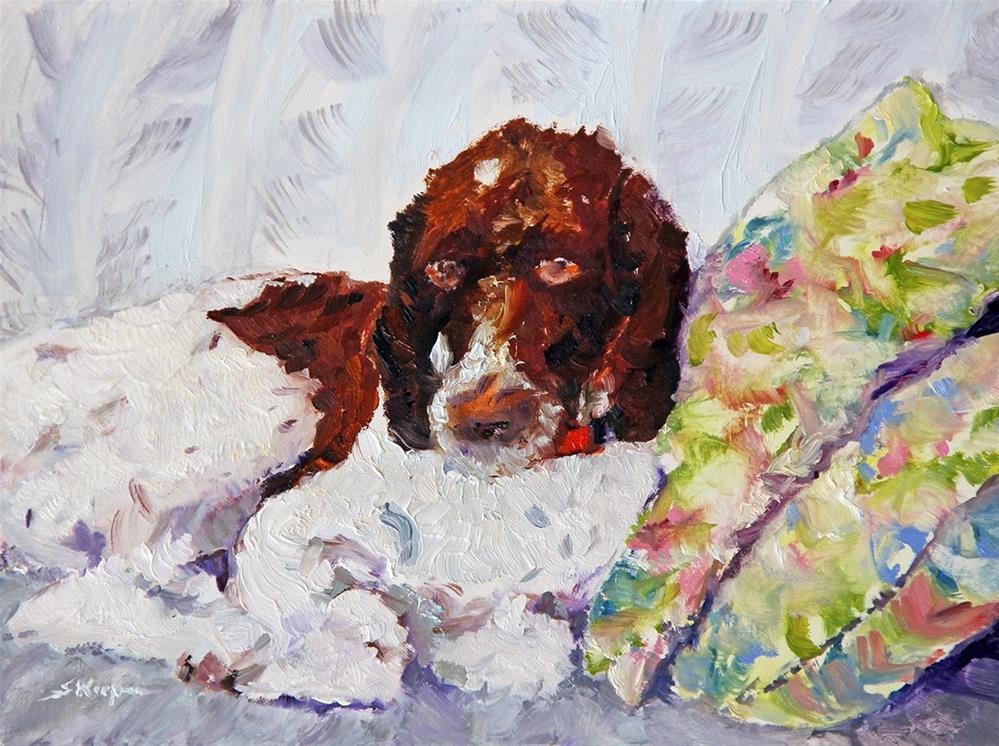 """Tallulah's 3rd Birthday Portrait"" original fine art by Shelley Koopmann"