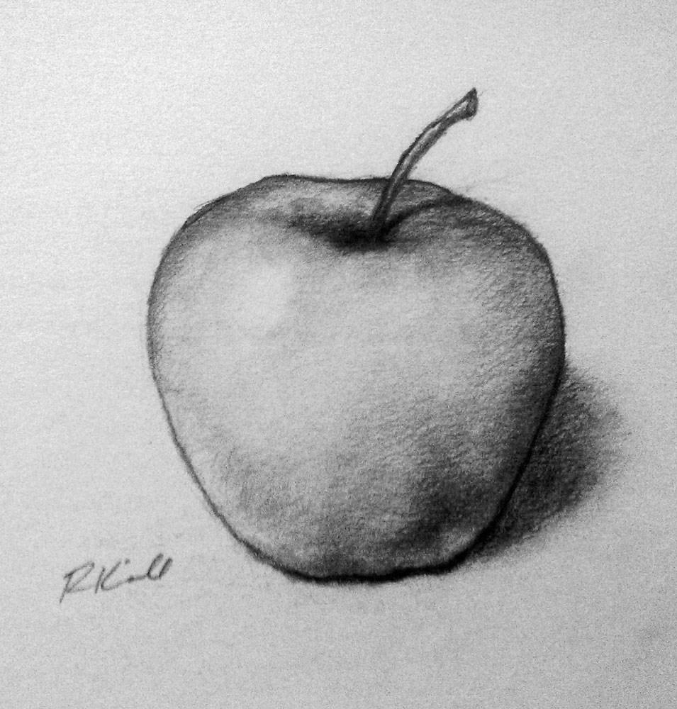"""""""An Apple"""" original fine art by Bob Kimball"""