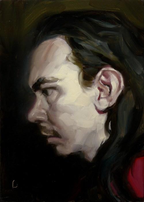 """Profiling"" original fine art by John Larriva"