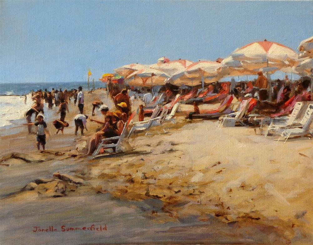 """Cape May Beach IV"" original fine art by Jonelle Summerfield"