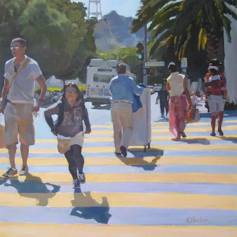 """Crosswalk"" original fine art by Kaethe Bealer"