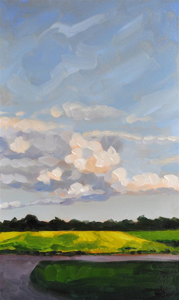 """""""Late Afternoon Clouds"""" original fine art by Heather Bullach"""