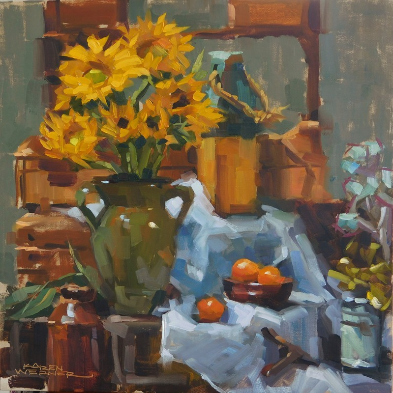 """Gallery Still Life"" original fine art by Karen Werner"