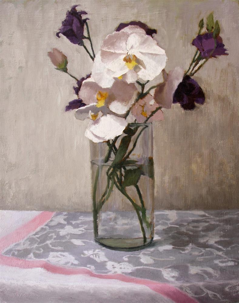 """#23 reaching orchids"" original fine art by Nancy Wallace"