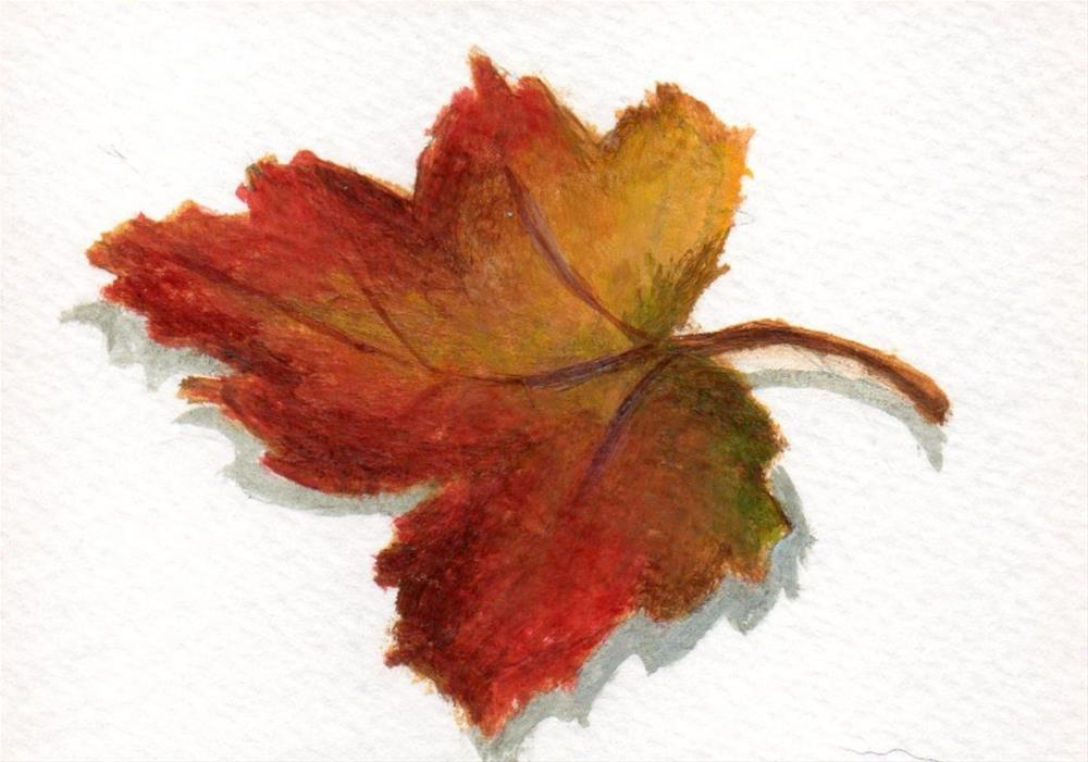 """Fallen  Leaves 3"" original fine art by Debbie Shirley"