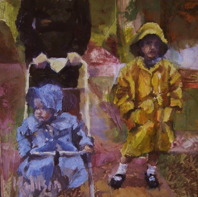 """No Boots"" original fine art by Katie Wilson"