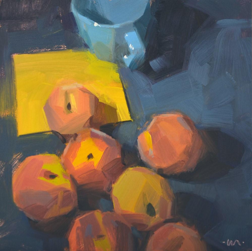 """Peaches Approach Cup"" original fine art by Carol Marine"