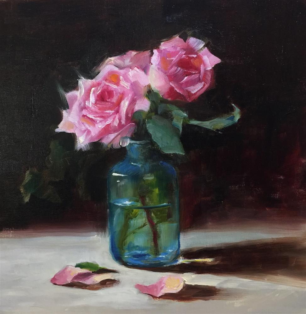 """""""Classic Roses"""" original fine art by Dorothy Woolbright"""